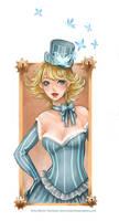 Steampunk hostess by bluemonika