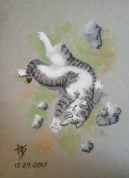 Twisty Kitty by robertsloan2
