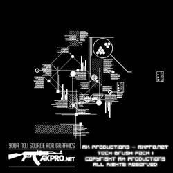 AK Tech Brush Pack 1 by AK-Productions
