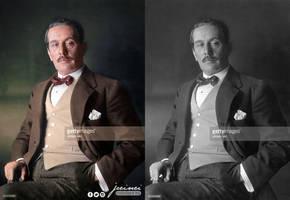 Giacomo Puccini - colorized by jecinci by jecinci