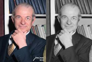 Linus Pauling - colorized by jecinci by jecinci