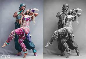Fokin  Fokina - Scheherazade  - ballet costumes - by jecinci