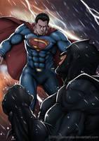 Batman Vs Superman by Artamata