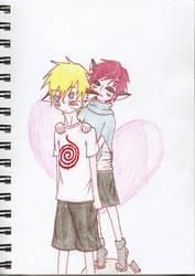GaaNaru Valentine's Day by sirkuslapsi