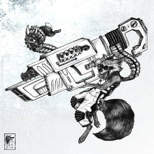 Black Rocket Raccoon by NimeniCanine