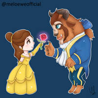 Beauty and the Beast (Commission) by Meloewe