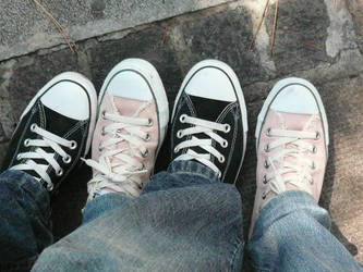 Couple Converse by fabemiko-stock