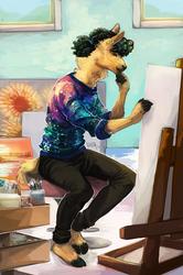 Painting Alpaca by The-Keyblade-Pony