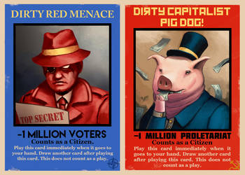 Red Menace and Pig Dog Cards by CharlieWilcher