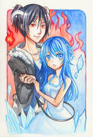 M.I : Like ice and fire by AzuraLine