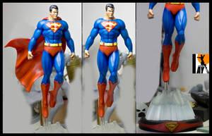 Superman paintup by AYsculpture