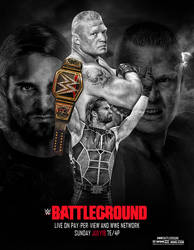 WWE BattleGround 2015 Poster by irmiya