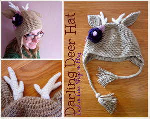 Darling Deer Hat by the-carolyn-michelle