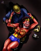 Wonder Woman Chloroformed - 'Fausta' Tribute by sleepy-comics