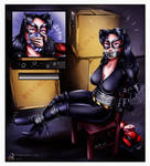 Catwoman Chloroformed And Tied Up [Commission] by sleepy-comics