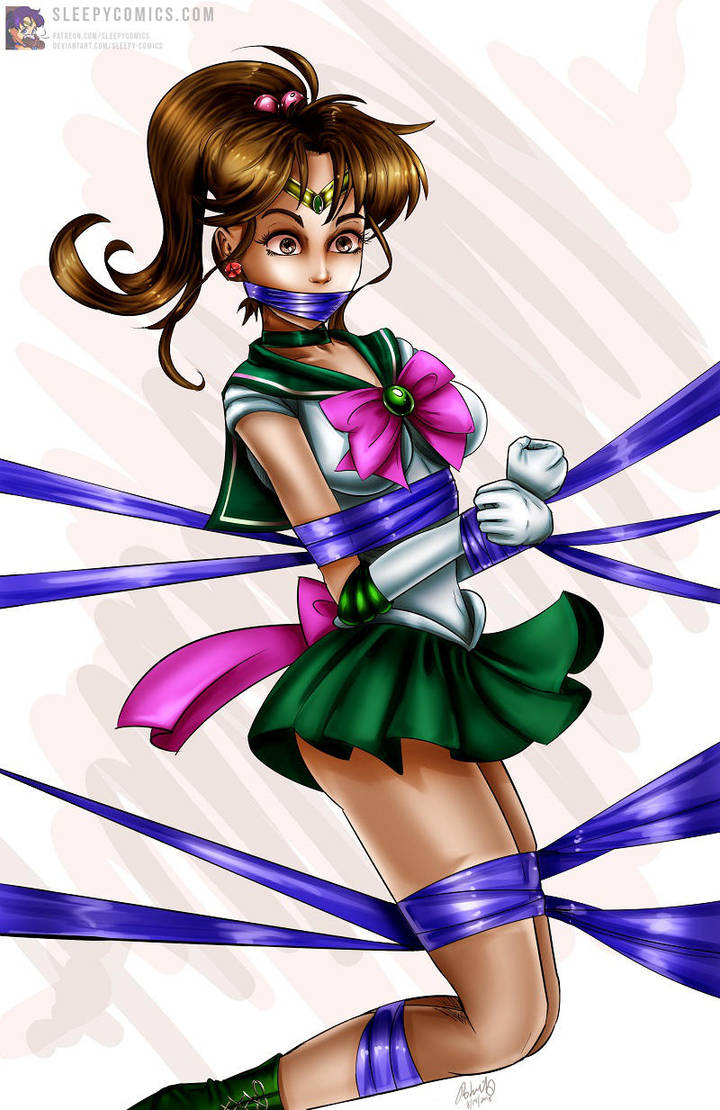 Sailor Jupiter Bound And Gagged 2018 by sleepy-comics