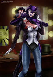 Zatanna Chloroformed By Catwoman by sleepy-comics