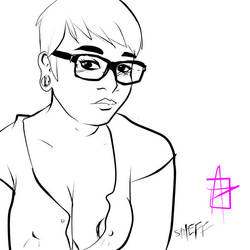 busty selfie sketches: Stheff by andehpinkard
