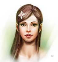 Spring girl by Egri