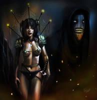 warrior lady by Egri