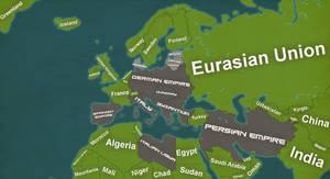 Alternate Europe 2075 Map by Chrismapper594