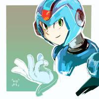 MegamanX doodle by MegumiNoLove