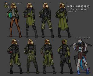 Commission - Armor/IP design by Daemoria