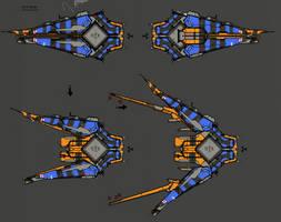 Triskellan Salvage Vessel concept by Daemoria