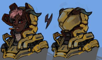 Power Armor Sandelf by Daemoria