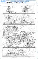 Rogue vs Iron man by Rafa Sandoval by lobocomics