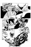 Batgirl By Syaf inks by Curiel by lobocomics