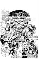 Modok By Finch inks Curiel by lobocomics