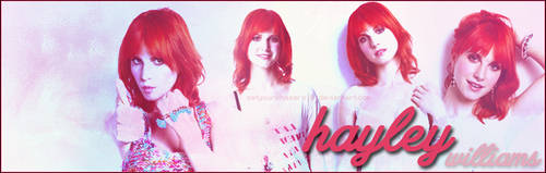 BANNER: Hayley Williams by setyourphasers