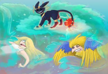 { June Event Week 4 } oh wait what surfing noooo by d4rk3r-kat