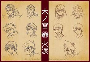 BEYBLADE - Kinomiya x Hiwatari clans by SlumberPoppy