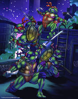 Teenage Mutant Ninja Turtles by tylercairnsart
