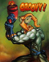 Earthworm Jim by tylercairnsart