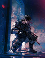 Solid Snake by tylercairnsart