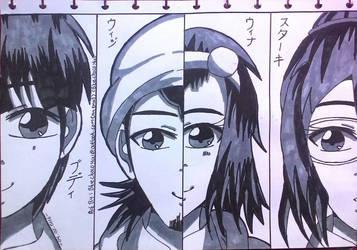 All Character of TAWUR  by julikatsubasasta95