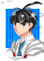 Colour Sketch daily 01 : Budi from TAWUR  by julikatsubasasta95