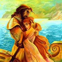 Sansa and Sandor (Tristan and Isolde) by kallielef