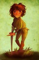 Arya and Needle by kallielef