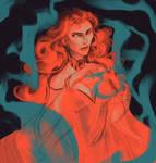Color Challenge: Team Dragonstone (Melisandre) by kallielef