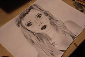 Morgan Joyce drawing by Hattaayy