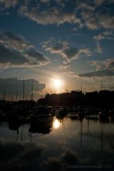 Ramsgate harbour reflection by Zenabiz