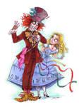 burton's alice and hatter by briannacherrygarcia