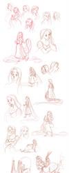 rapunzel sketchdump by briannacherrygarcia