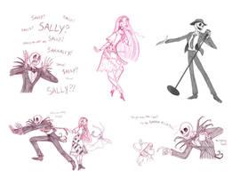 jack and sally sketchdump by briannacherrygarcia