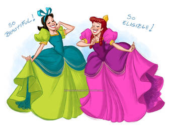 Anastasia and Drizella by briannacherrygarcia