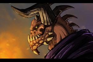 Demon Sketch by RedBeatha